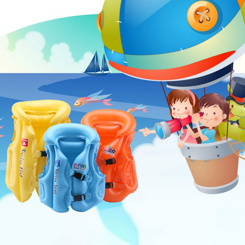 Jacket Buoyancy Vest Safety Float Life Jacket Buoyancy Rescue Hot  Professional PVC Children\\\'s Inflatable Swimwear Life