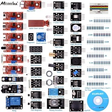 For Arduino Raspberry pi Sensor kit Miroad 37 in 1 Robot Projects Starter Kits with Tutorials