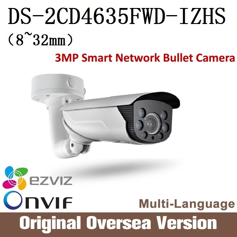 все цены на HIKVISION  Ip Camera DS-2CD4635FWD-IZHS 8~32mm Cctv Bullet 1080p Poe audio Ip66 English Version H265 Onvif RJ45 support upgrade онлайн