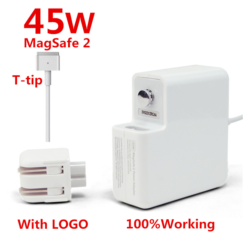 High Quality Original 45W MagSafe 2 Laptop Power Adapter Chargers (WITH LOGO) For MacBook Air 11'' 13'' A1436 A1465 A1466 brand new high quality 45w l tip magsafe power adapter charger with logo for macbook air a1244 a1374 a1304 a1369 a1370 a1377
