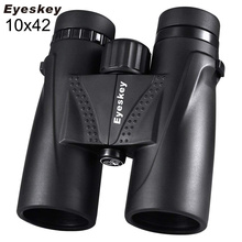 10X42 Eyeskey משקפת עמיד למים מקצועי קמפינג ציד טלסקופ זום Bak4 פריזמה אופטיקה עם משקפת רצועה