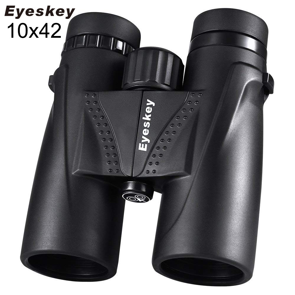 10X42 Eyeskey Binoculars Waterproof Professional Camping Hunting Telescope Zoom Bak4 Prism Optics with Binoculars Strap eyeskey 10x42 portable binoculars camping hunting telescope waterproof night vision tourism optical outdoor sports