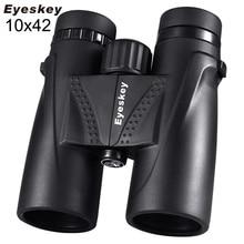 10X42 Eyeskey lornetka wodoodporna profesjonalna Camping teleskop myśliwski Zoom Bak4 pryzmat optyka z lornetką pasek