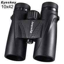 10X42 Eyeskey Водонепроницаемый бинокль, профессиональный походный охотничий телескоп, Zoom Bak4 призматическая оптика, ремень для бинокля