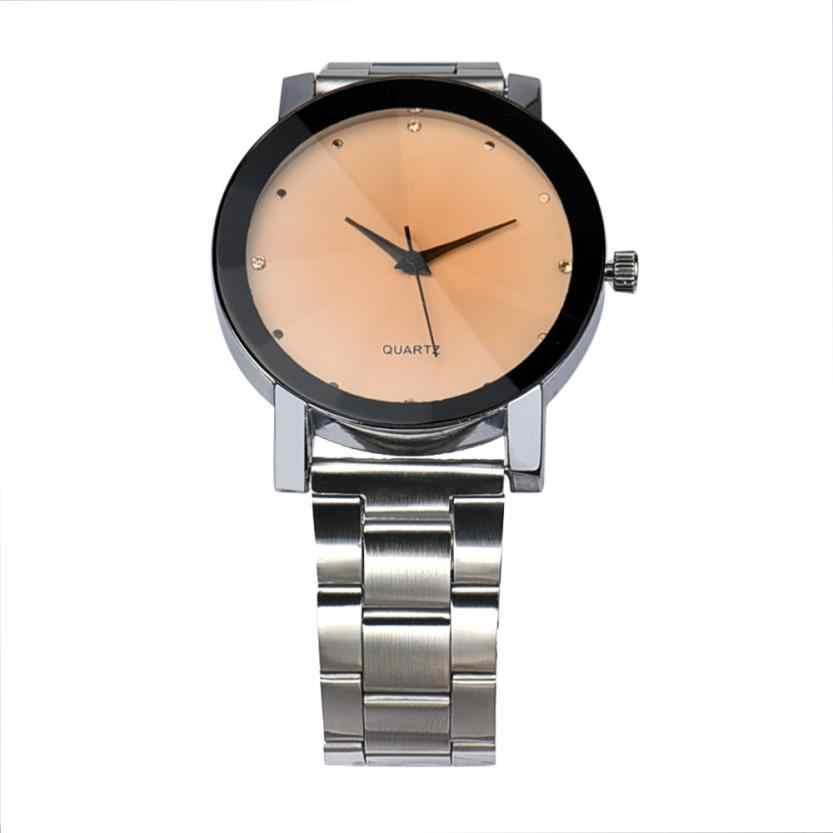 Homens relógio De Luxo De Moda De Couro Dos Homens de Aço Inoxidável Analógico Quartz Relógio de pulso Relógios homens Sports watch relogio masculino # D