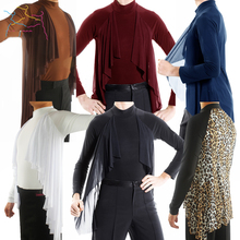 Elegant Long Sleeved Tops New Male Adult Latin Dance Modern Dance Practice Shirt Performance Clothing Competition Suit DWY1116