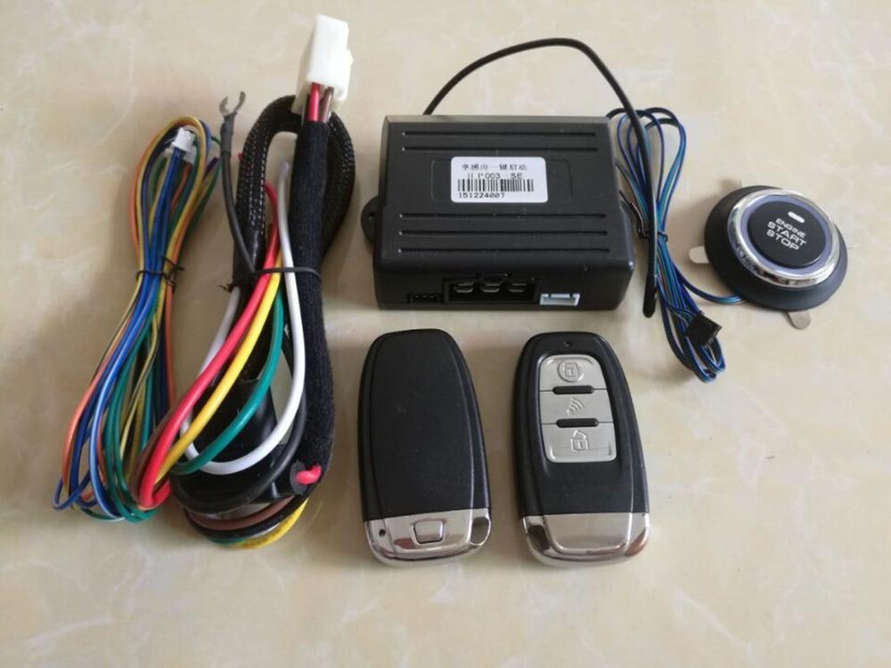 Système d'alarme de voiture universel PKE verrouillage de sécurité à distance sans clé pour la fonction Mazda bouton poussoir sans clé arrêt de démarrage PKE