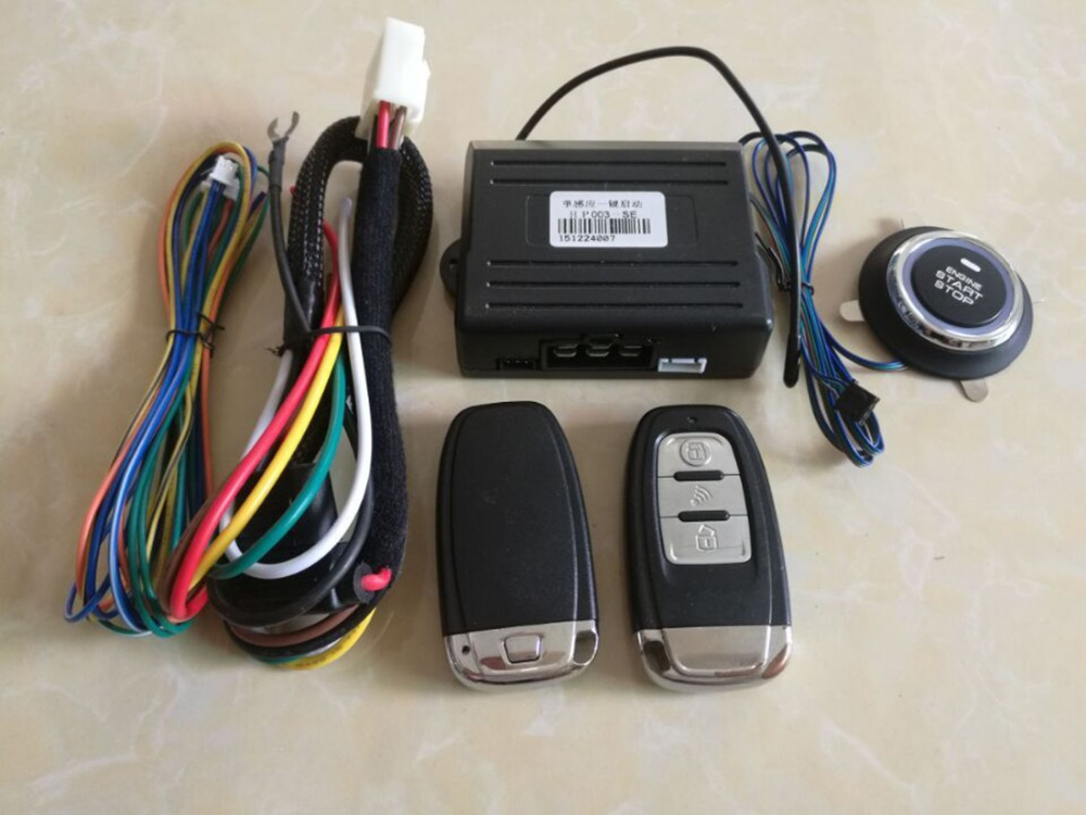 Universal PKE Car Alarm System Keyless Entry Remote Security Built Lock For Mazda Function Keyless Push Button PKE Start Stop