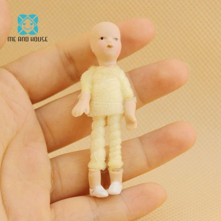 DIY Dollhouse Mini Figure Miniature Toy Porcelain Mini Figures Baby Doll House Child Gift