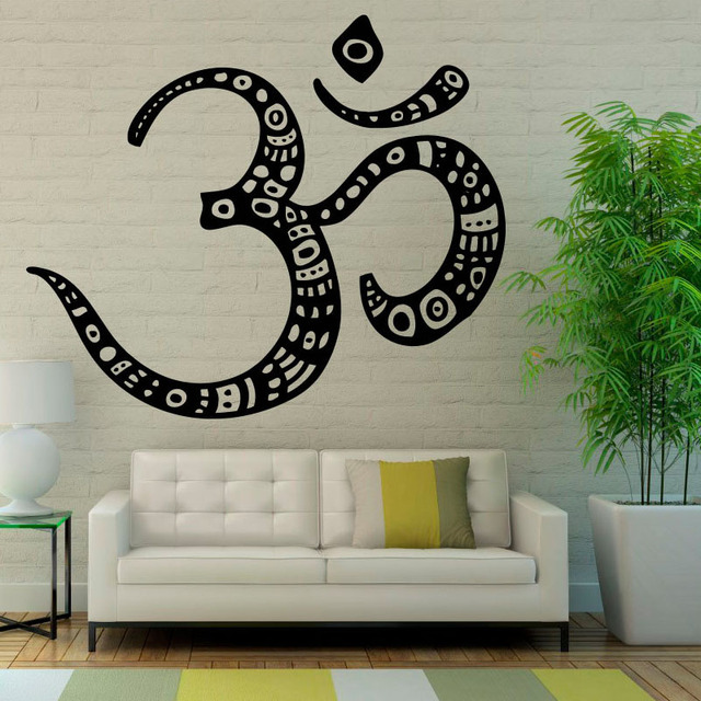 ZOOYOO Om Symbol Wall Decal Sticker Buddhism Vinyl Art Wall Stickers ...