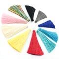 50 pcs Silk Tassels Diy For Tassels Earring Pendant Long Fringed Ribbon Knot Satin Tassel Trim Jewelry Accessories