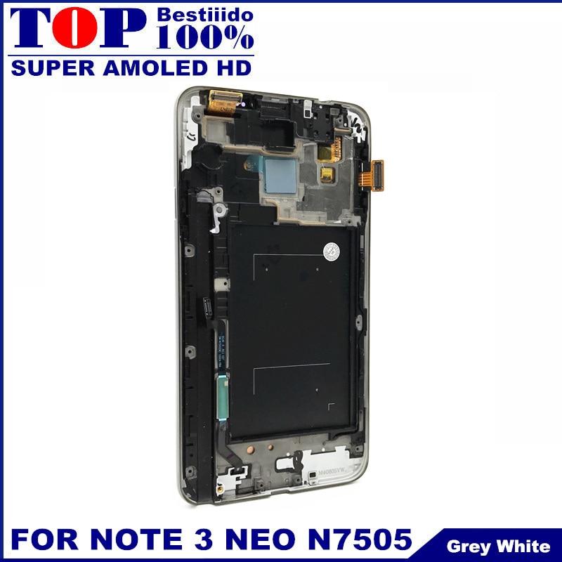 imágenes para Probado LCD para Samsung Galaxy Note 3 Note3 Neo Lite N7505 LCD Pantalla Táctil Digitalizador Asamblea Frame AMOLED LCD reemplazar