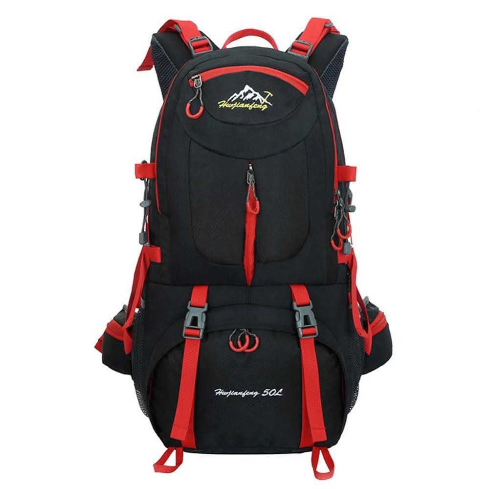 Sac à dos de randonnée 50L sacs à dos imperméables unisexe en plein air Camping Gym sac de voyage grands sacs de Sport sac à dos d'escalade polyvalent