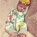 Romper do Inverno do bebê da Roupa Do Bebê Do Bebê-renascer Baby Boy Menina Roupas Romper Manga Longa Infantil Produto Crianças Macacões 2016