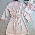 2016 лето большой большой плюс шелковый халат ночные рубашки женские платья пятно пижамы ночная рубашка сорочка одежда домашней одежды костюм платье
