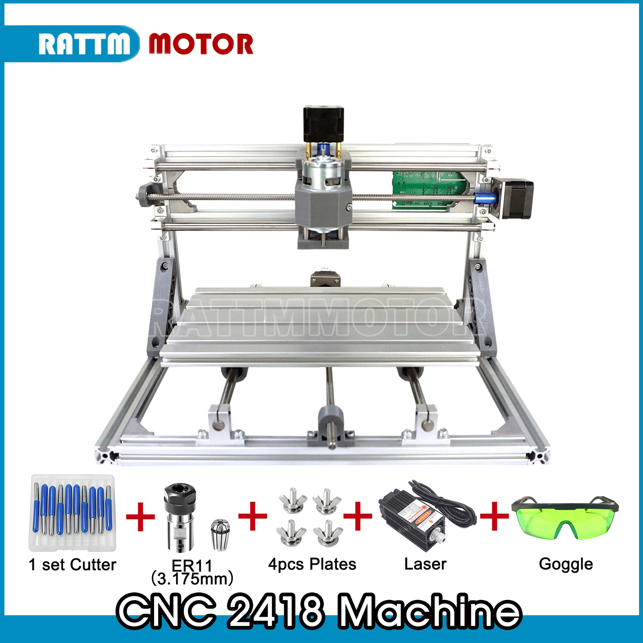 CNC 2418,diy Cnc Engraving Machine,mini Pcb Milling Machine,Wood Carving Machine,cnc Router,cnc2418