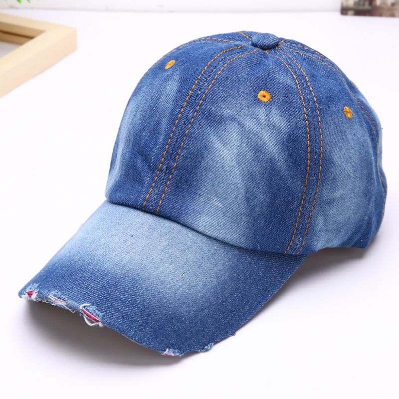 Domino/Ã/¢/â/'/¬s Pizza Logo Plain Adjustable Cowboy Cap Denim Hat for Women and Men