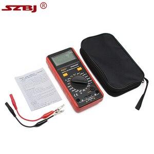 Image 5 - SZBJ medidor LCD Digital VC6243A, probador de resistencia de capacitancia, multímetro, pinza de cocodrilo, herramienta de medición con bolsa BM4070