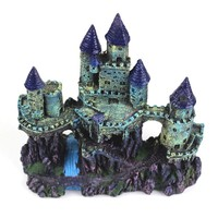 24cm Aquarium Artificial Castle Decoration Fish Tank Ancient Castle Tower Ornament Aquarium Rock Cave For Fish