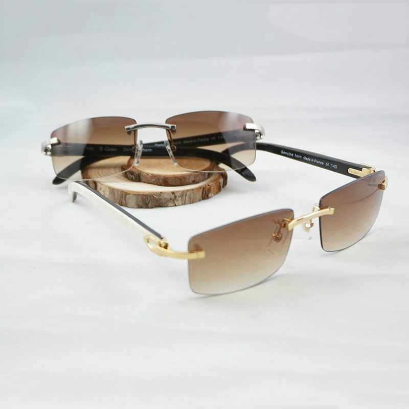 Luxury Carter Sunglasses Genuine Horn Glasses Men Buffalo Horn Sun Glasses Male