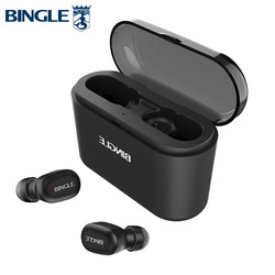 Bingle K7 Water Resistant AAC Active Noise Canceling Headphones BT TWS 5.0 Sports Running Wireless Bluetooth Earbuds Earphones