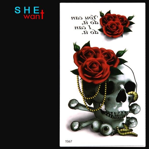 ⃝2017 la manera superior precipitó 3D flor roja grande cráneo ...