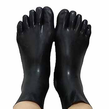 Unisex latex fetish sock rubber 5 toes socks short sock Skin toes size S,M,L - DISCOUNT ITEM  15% OFF All Category