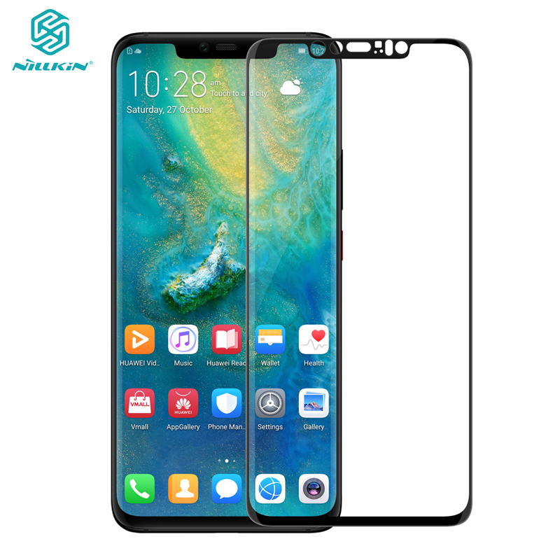 Huawei Mate 20 Pro Gehärtetem Glas Huawei Mate 20 Pro 3D Glas Nillkin CP + Max Volle Abdeckung Screen Protector