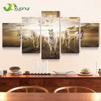 5 Panels Canvas Art Horse Morden Painting Picture Cuadros Decoracion Wall Pictures For Living Room Canvas