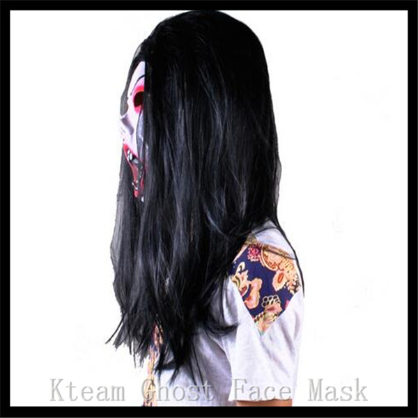 Costumes & Accessories Novelty & Special Use Halloween Party Cosplay Scary Ghost Face Mask Halloween Toothy Zombie Bride With Black Hair Horror Ghost Head Mask Toy