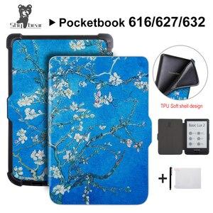 Тонкий чехол для Pocketbook 616/627/632 Touch Lux4 Ereader, чехол для Pocketbook touch HD 3/Basic Lux 2, электронная книга + подарок