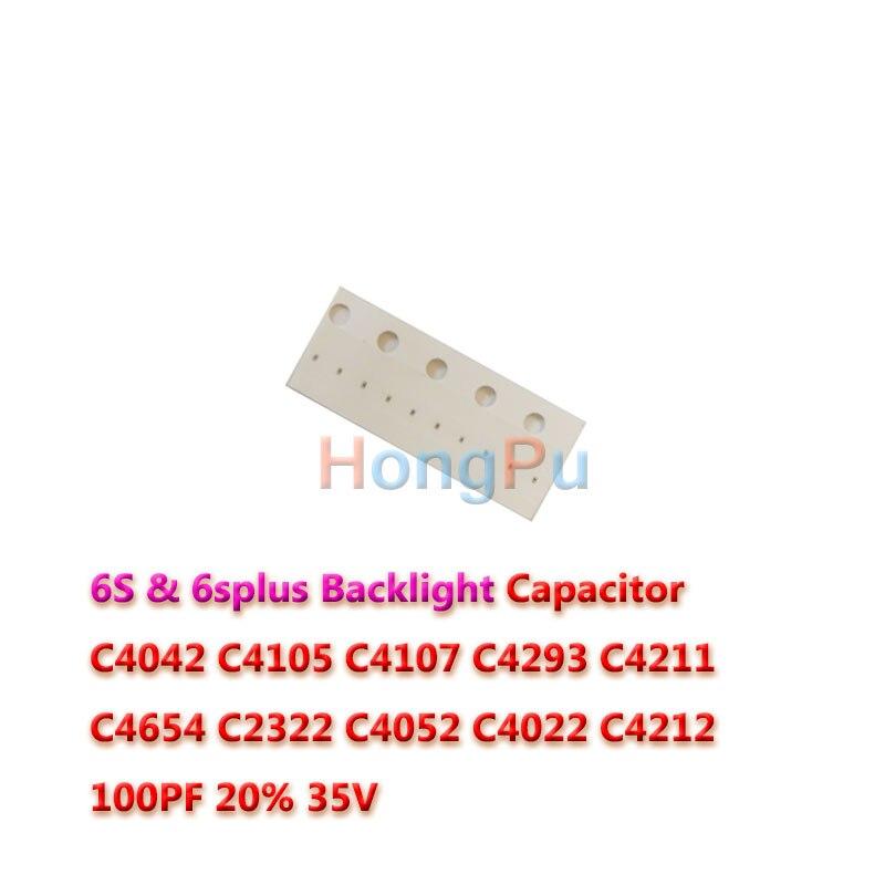 200pcslot C4042 C4105 C4107 C4293 C4211 C4654 C2322 C4052 C4022 for iphone 6s 6splus LED Backlight Capacitor