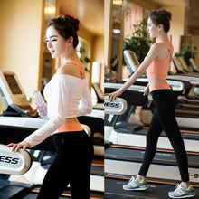 2017 Stock factory direct new fashion women Bodybuilding wear  suit /Kit 3pcs Top&Vest&Pants /Women Fitness Clothing