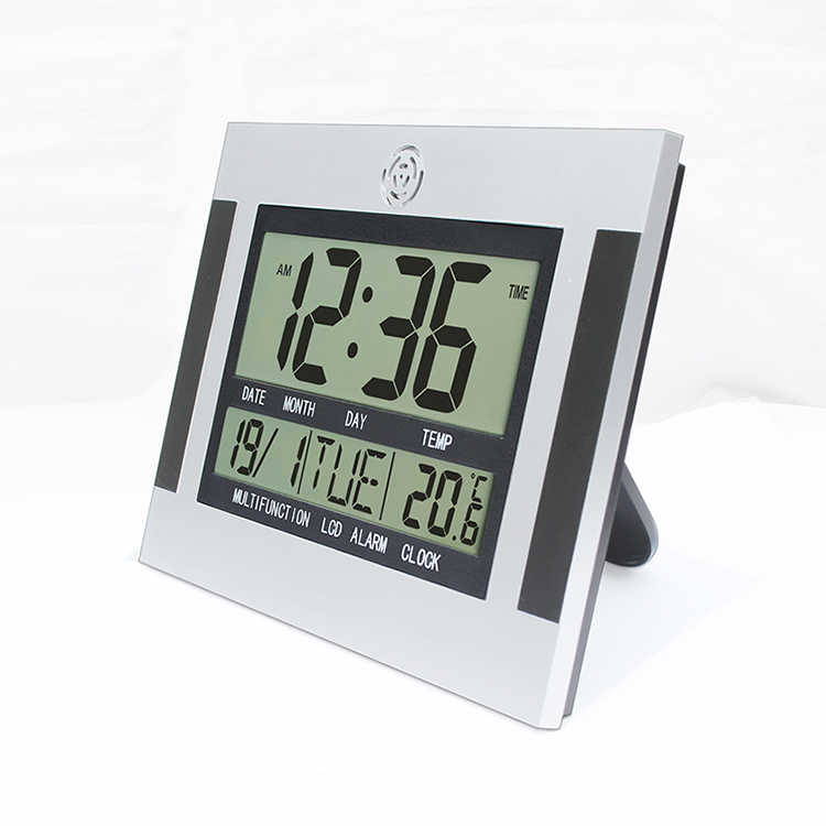 Big Number Large Lcd Digital Wall Clock Table Watch Nixie Electronic Desk Bedside Alarm Clock With Temperature Snooze Calendar Jam Dinding Jam Dinding Digitallcd Digital Jam Dinding Aliexpress