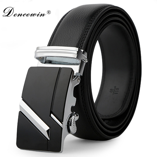 Leather Strap Male Automatic Buckle Belts