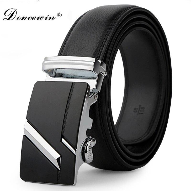 Correa de cuero para hombre cinturón de hebilla automática para hombres cinturón auténtico tendencia hombres cinturones ceinture moda diseñador mujeres jean cinturón