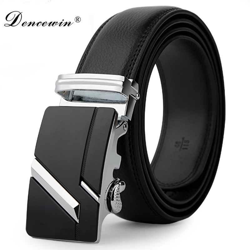leather strap male automatic buckle belts font b for b font font b men b font