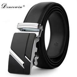 Кожаный ремешок мужской Автоматическая Пряжка ремни для мужчин аутентичный пояс тренд мужские ремни ceinture модные дизайнерские женские