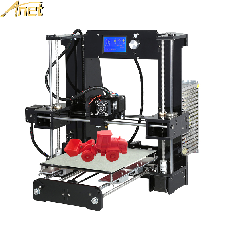 Anet A8 A6 Auto level A8 3d printer Large Printing High Precision Reprap 3D Printer Kit DIY With Free Filament 16GB/8GB SD Card ship from us anet a8 3d printer high precision reprap prusa i3 diy hotbed filament sd card 2004 lcd auto level