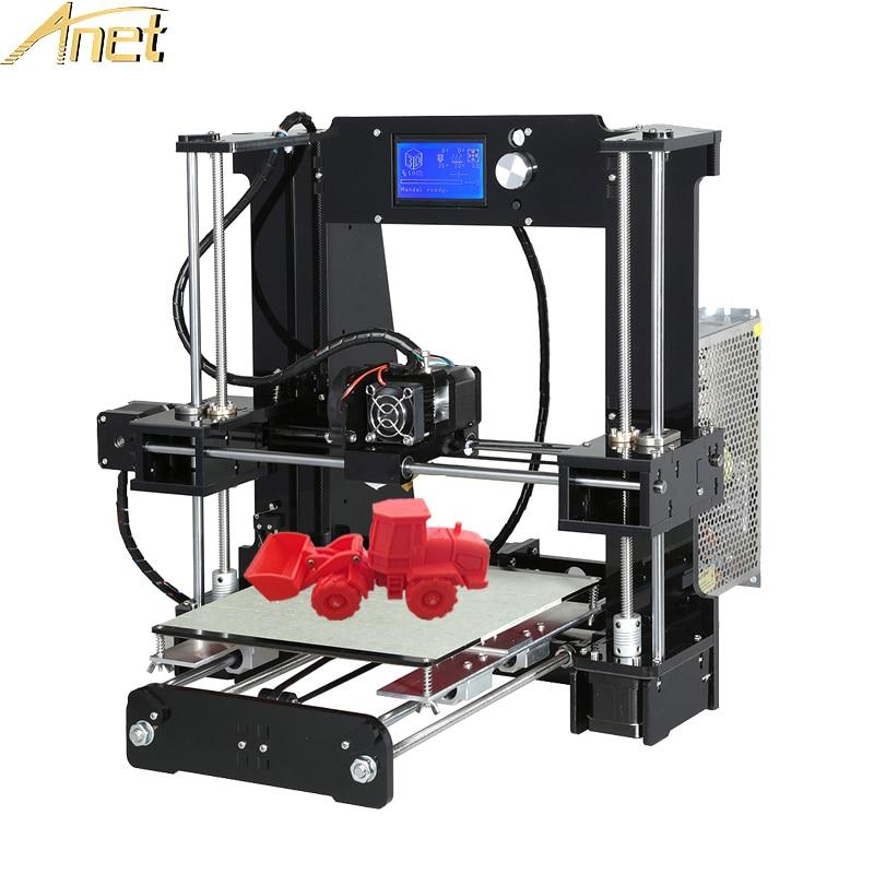 Anet A8 A6 Auto leveling A8 3d printer Large Print Size High Precision 3D Printer Kit DIY imprimante 3d With PLA/ABS Filament цена 2017