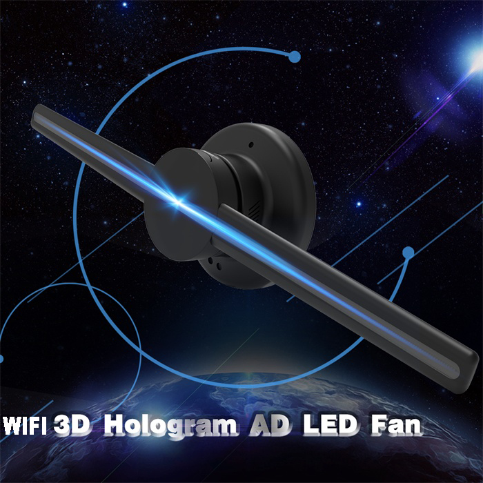 Xintai Touch Wifi 3D Holographic Projector Hologram Player LED Display Fan  Advertising Light APP Control 42cm/16 54