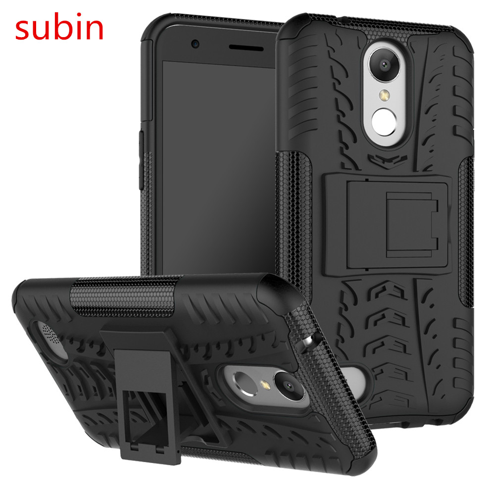 Για LG K10 (2017) K20 plus TPU & PC Dual Armor Capa with Stand Hard Silicone Cover For LG K10 2017 X400 M250 M250N Phone case