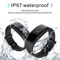 Intelligent Pedometers Smart Bracelet Sports Fitness Wristbands Step Counter Heart Rate Monitor Real-time Tracker Waterproof