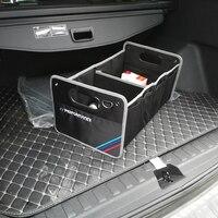 For BMW E46 E90 E91 F30 M3 X4 F20 F30 X5 E39 X3 E36 X1 X5 M Performance Car styling Emblem Large Capacity Vehicle Storage Box