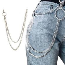 1 шт., длинные брюки, хипстерские брелки, панк-улица, большое кольцо, металлический кошелек, пояс, цепь, штаны, брелок, унисекс, хип-хоп ювелирные изделия, хороший подарок