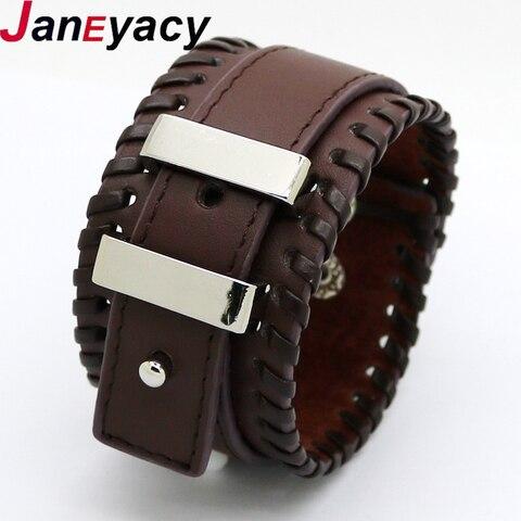Купить модные ювелирные изделия кожаные браслеты мужские повседневные