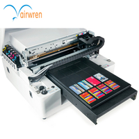 Multi-purpose A3 Size 6color Digital Flatbed Metal Printer  Glass printer UV Led  Printer with water cooling system
