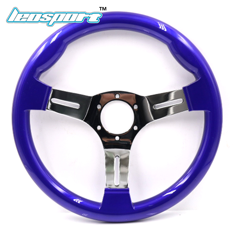 New 13inch (330mm) Racing Steering Wheel ABS plastic and Iron frame blue color game Steering Wheel