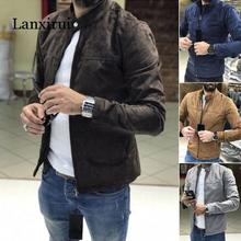 цена на Mens Bomber Jacket Premium Suede Biker Coat Resistant Padded Zip Up Flight Tops