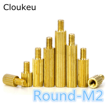 20pcs M2+3 Copper Round Knurled stud Male to Female M2*3/4/5/6/7/8/9/10/11/12/13/14/15/16/17/18/19/20/21/22/23/24/25/27/28/30MM image